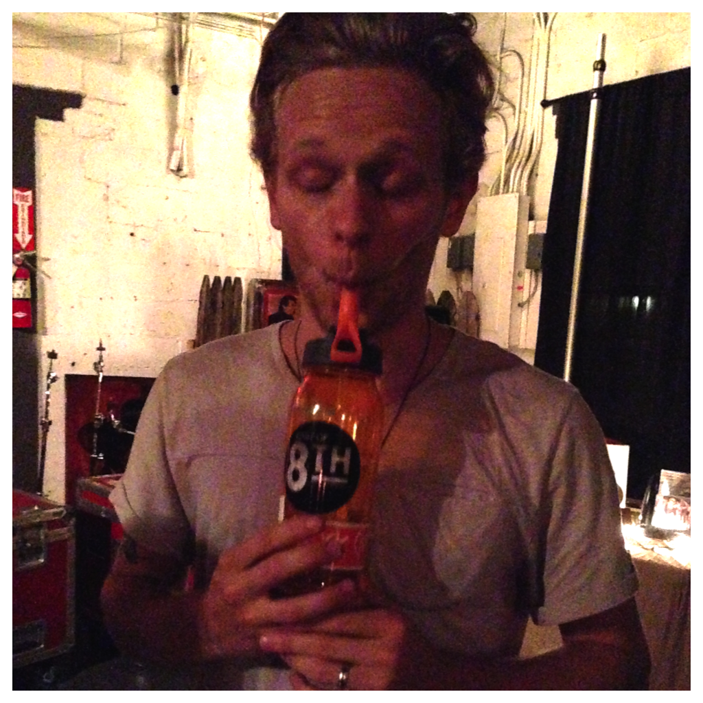 Singer/songwriter Josh Noren knows that East of 8th stickers make the water taste delicious