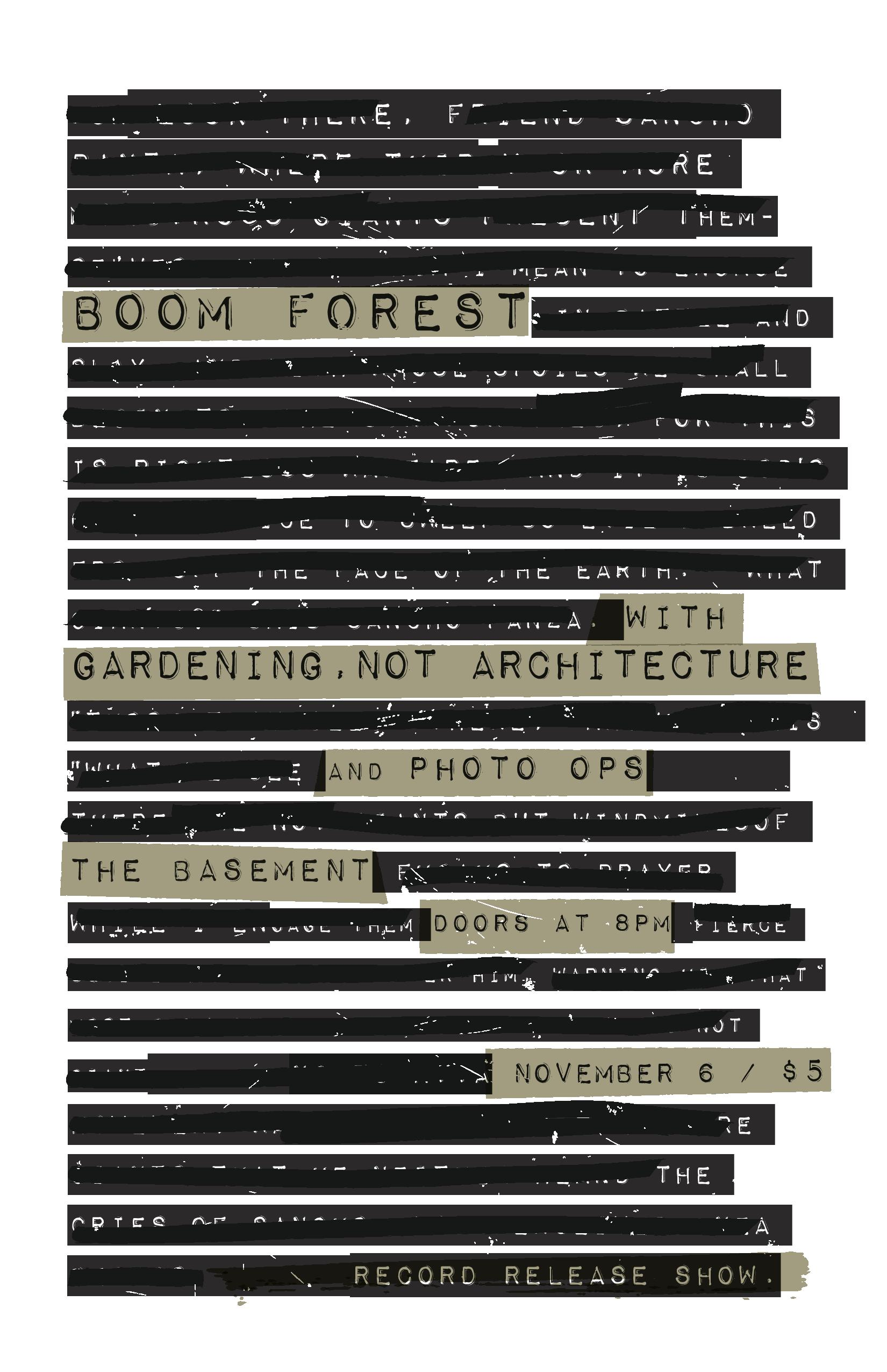 BoomForestReleaseShow_Poster